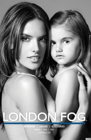 Alessandra Ambrosio e sua filha posam juntas para uma campanha de moda