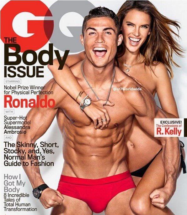 Juntamente com o craque Cristiano Ronaldo para a revista GQ
