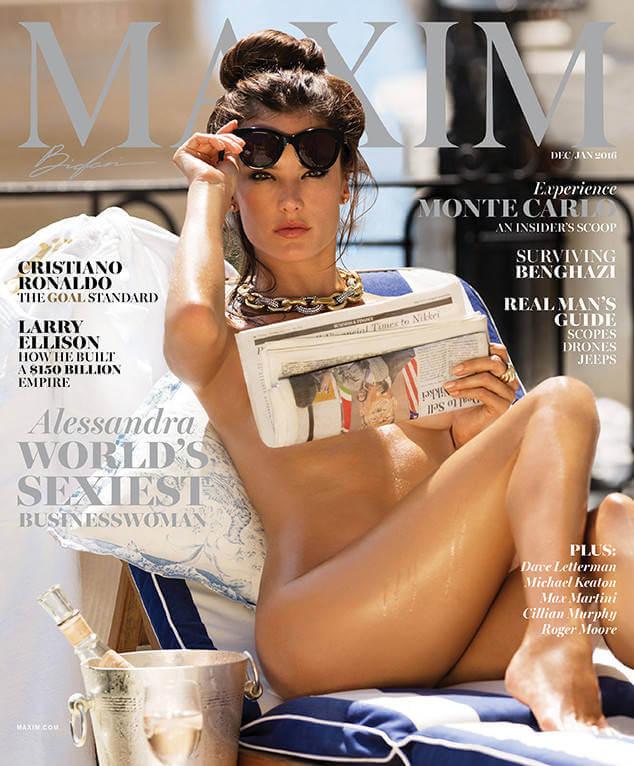 Esbanjando sensualidade na capa da revista Maxim