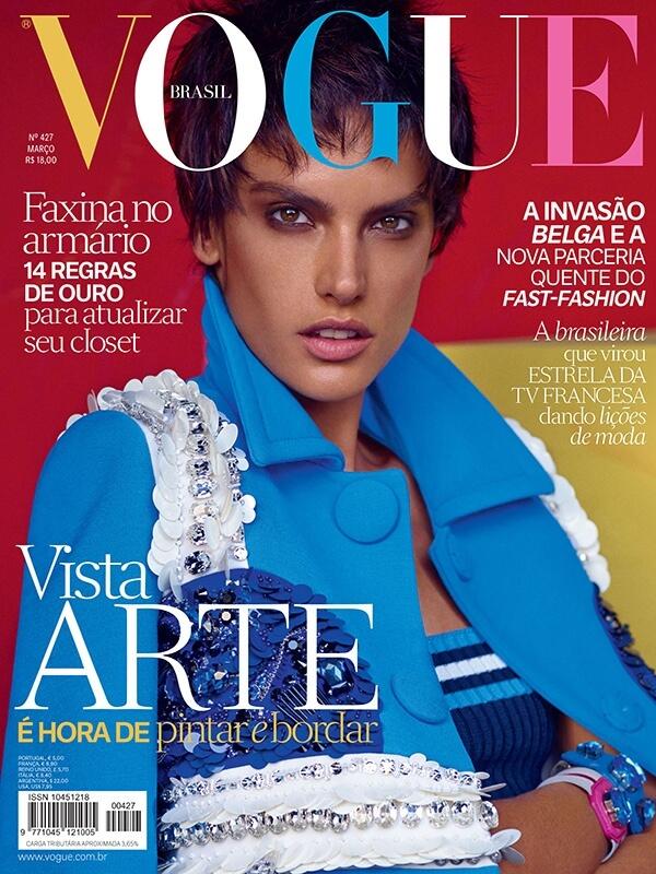 Alessandra Ambrosio de cabelos curtos para a Vogue Brasil