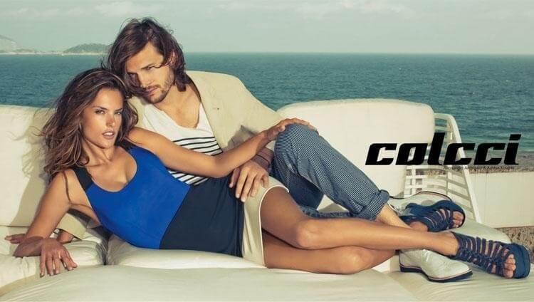 Alessandra posa para campanha Colcci ao lado do ator Ashton Kutcher